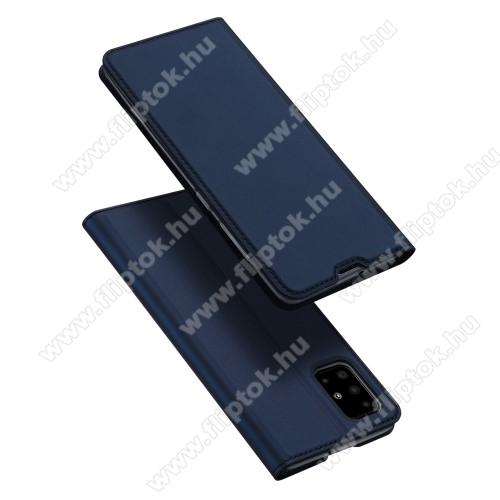 DUX DUCIS Skin Pro Series slim design notesz / mappa tok - SÖTÉTKÉK - oldalra nyíló flip cover, asztali tartó funkció, szilikon belső, mágneses záródás - SAMSUNG SM-A515F Galaxy A51 - GYÁRI