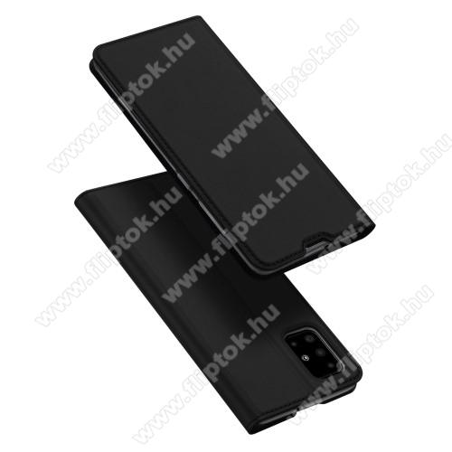 DUX DUCIS Skin Pro Series slim design notesz / mappa tok - FEKETE - oldalra nyíló flip cover, asztali tartó funkció, szilikon belső, mágneses záródás - SAMSUNG SM-A515F Galaxy A51 - GYÁRI