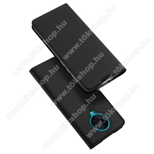 DUX DUCIS Skin Pro Series slim design notesz / mappa tok - FEKETE - oldalra nyíló flip cover, asztali tartó funkció, szilikon belső, mágneses záródás - Xiaomi Redmi K30 Pro / Xiaomi Redmi K30 Pro Zoom / Xiaomi Poco F2 Pro - GYÁRI