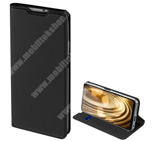 DUX DUCIS Skin Pro Series slim design notesz / mappa tok - FEKETE - oldalra nyíló flip cover, asztali tartó funkció, szilikon belső, mágneses záródás - HUAWEI P40 Lite / Huawei Nova 7i / Huawei nova 6 SE - GYÁRI