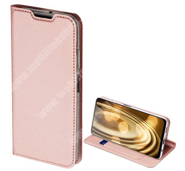 DUX DUCIS Skin Pro Series slim design notesz / mappa tok - ROSE GOLD - oldalra nyíló flip cover, asztali tartó funkció, szilikon belső, mágneses záródás - HUAWEI P40 Lite / Huawei Nova 7i / Huawei nova 6 SE - GYÁRI