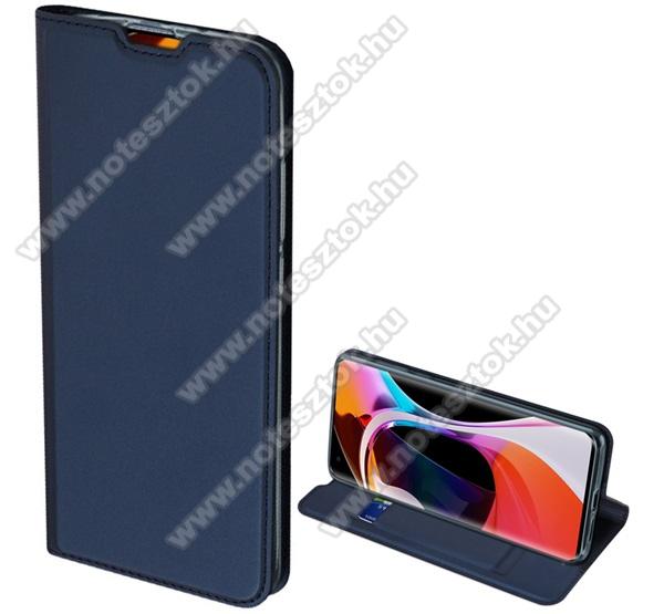DUX DUCIS Skin Pro Series slim design notesz / mappa tok - SÖTÉTKÉK - oldalra nyíló flip cover, asztali tartó funkció, szilikon belső, mágneses záródás - Xiaomi Mi 10 Pro 5G - GYÁRI