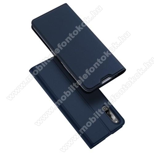 DUX DUCIS Skin Pro Series slim design notesz / mappa tok - SÖTÉTKÉK - oldalra nyíló flip cover, asztali tartó funkció, szilikon belső, mágneses záródás - SONY Xperia L4 - GYÁRI