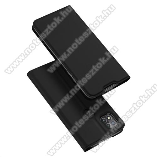 DUX DUCIS Skin Pro Series slim design notesz / mappa tok - FEKETE - oldalra nyíló flip cover, asztali tartó funkció, szilikon belső, mágneses záródás - Xiaomi Redmi 9C - GYÁRI