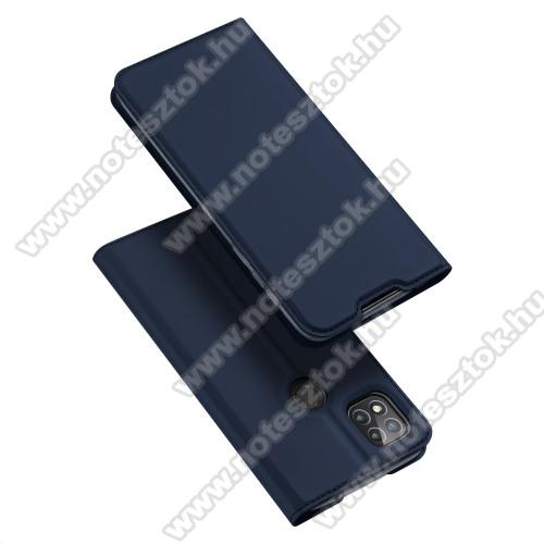 DUX DUCIS Skin Pro Series slim design notesz / mappa tok - SÖTÉTKÉK - oldalra nyíló flip cover, asztali tartó funkció, szilikon belső, mágneses záródás - Xiaomi Redmi 9C - GYÁRI
