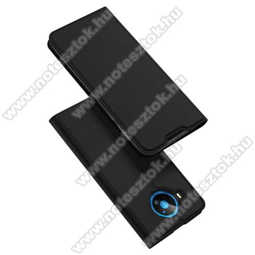DUX DUCIS Skin Pro Series slim design notesz / mappa tok - FEKETE - oldalra nyíló flip cover, asztali tartó funkció, szilikon belső, mágneses záródás - NOKIA 8.3 5G (2020) - GYÁRI
