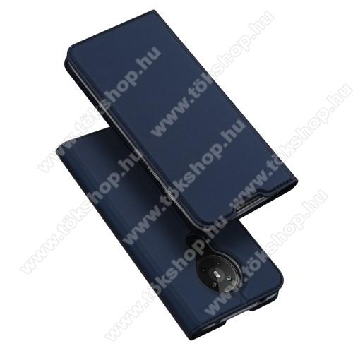DUX DUCIS SKIN PRO slim design notesz / mappa tok - SÖTÉTKÉK - oldalra nyíló flip cover, asztali tartó funkció, szilikon belső, mágneses záródás - NOKIA 5.3 - GYÁRI