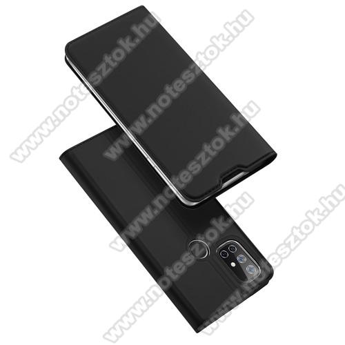 DUX DUCIS SKIN PRO slim design notesz / mappa tok - FEKETE - oldalra nyíló flip cover, asztali tartó funkció, szilikon belső, mágneses záródás - OnePlus Nord N10 5G - GYÁRI