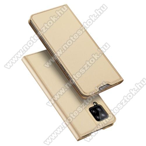 DUX DUCIS SKIN PRO slim design notesz / mappa tok - ARANY - oldalra nyíló flip cover, asztali tartó funkció, szilikon belső, mágneses záródás - SAMSUNG Galaxy A42 5G (SM-A425F) - GYÁRI