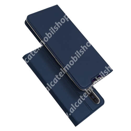 DUX DUCIS slim design notesz / mappa tok - SÖTÉTKÉK - oldalra nyíló flip cover, asztali tartó funkció, szilikon belső, mágneses záródás - SAMSUNG SM-A307F Galaxy A30s / SAMSUNG SM-A505F Galaxy A50 / SAMSUNG Galaxy A50s - GYÁRI