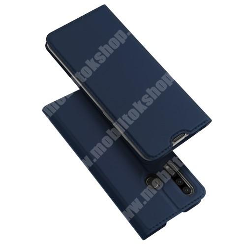 DUX DUCIS slim design notesz / mappa tok - SÖTÉTKÉK - oldalra nyíló flip cover, asztali tartó funkció, szilikon belső, mágneses záródás - HUAWEI P30 Lite / HUAWEI nova 4e - GYÁRI