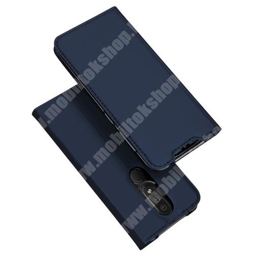 DUX DUCIS slim design notesz / mappa tok - SÖTÉTKÉK - oldalra nyíló flip cover, asztali tartó funkció, szilikon belső, mágneses záródás - NOKIA 4.2 - GYÁRI