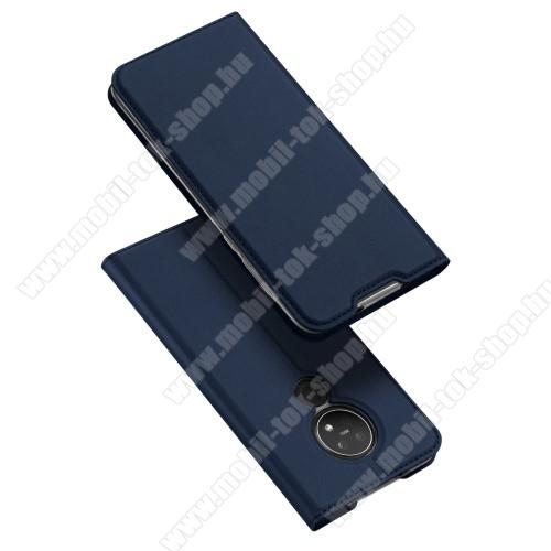 DUX DUCIS slim design notesz / mappa tok - SÖTÉTKÉK - oldalra nyíló flip cover, asztali tartó funkció, szilikon belső, mágneses záródás - NOKIA 6.2 / NOKIA 7.2 - GYÁRI