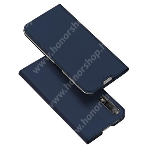 DUX DUCIS slim design notesz / mappa tok - SÖTÉTKÉK - oldalra nyíló flip cover, asztali tartó funkció, szilikon belső, mágneses záródás - HUAWEI P smart Pro (2019) / HUAWEI Y9s / Honor 9X (For China market) / Honor 9X Pro (For China) - GYÁRI