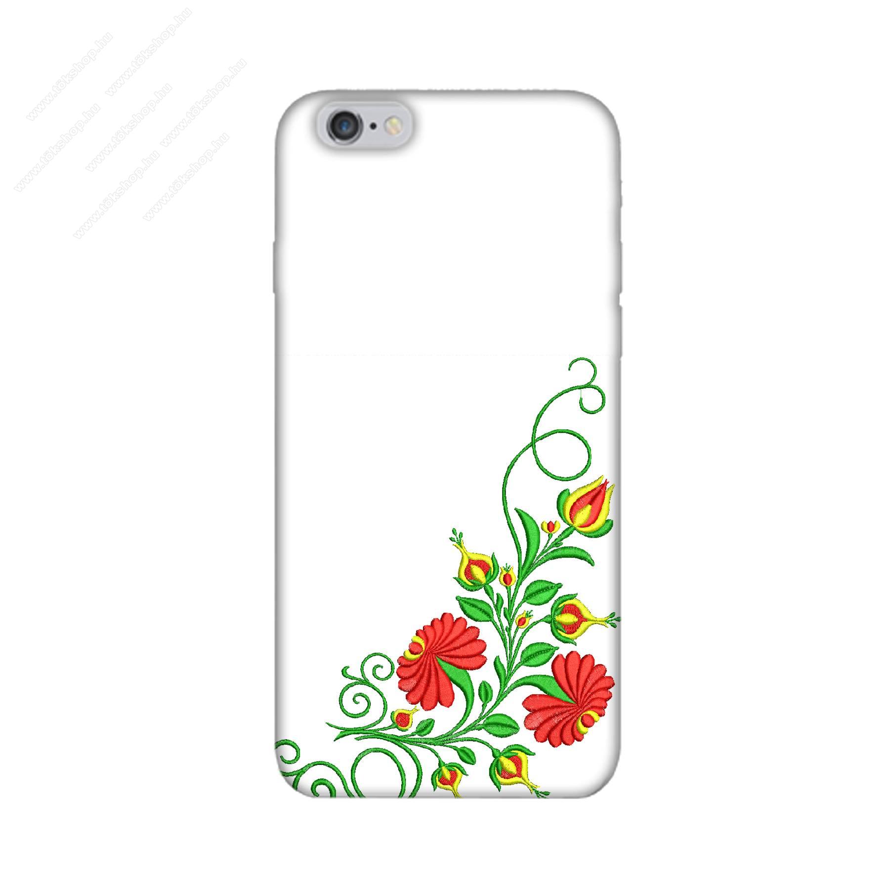 E-pic szilikon védő tok / hátlap - Kalocsai hímzés mintás - APPLE iPhone 6 Plus / APPLE iPhone 6s Plus