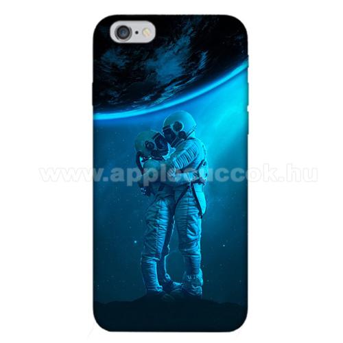E-pic szilikon védő tok / hátlap - Szerelmes űrhajós pár mintás - APPLE iPhone 6 / APPLE iPhone 6s