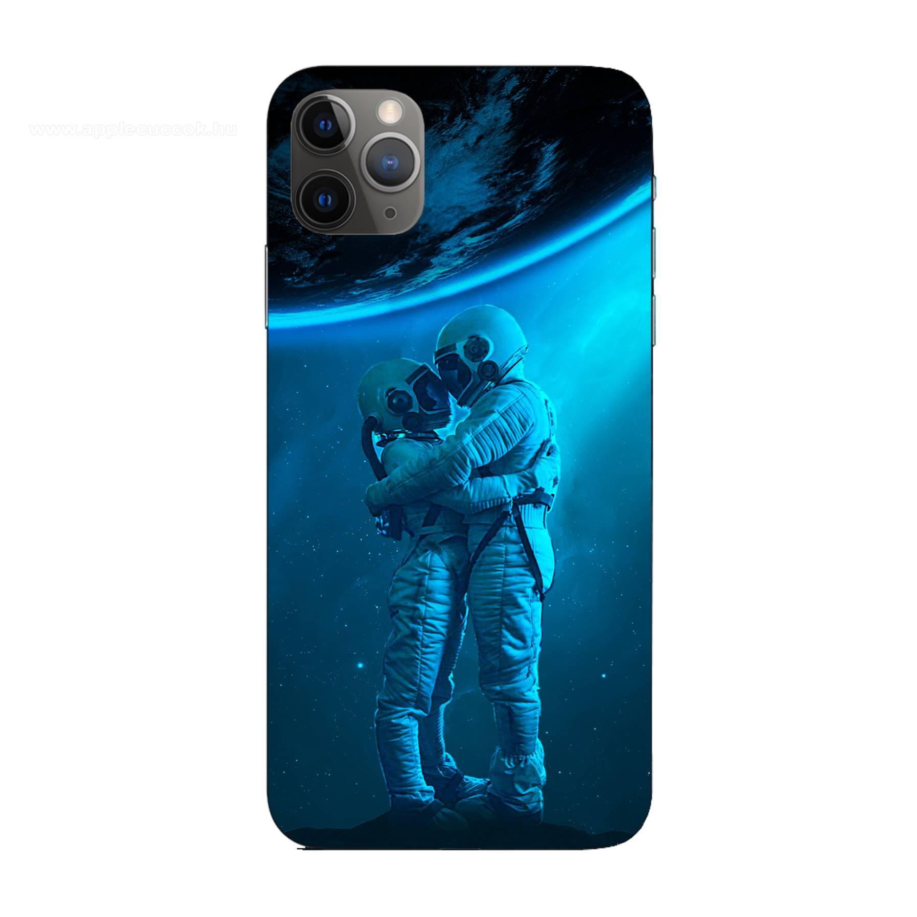 E-pic szilikon védő tok / hátlap - Szerelmes űrhajós pár mintás - Apple iPhone 11 Pro Max