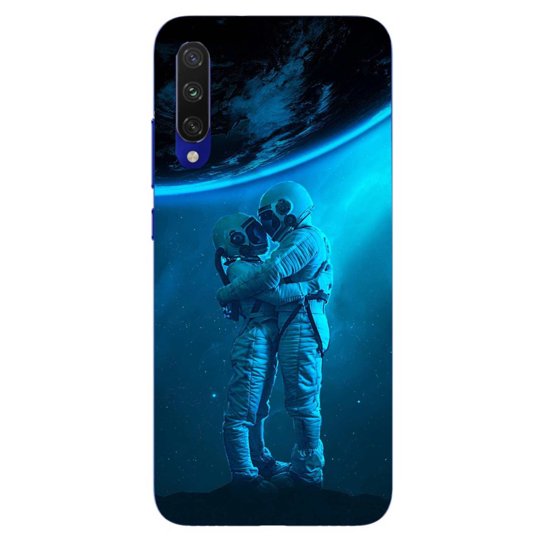 E-pic szilikon védő tok / hátlap - Szerelmes űrhajós pár mintás - Xiaomi Mi A3