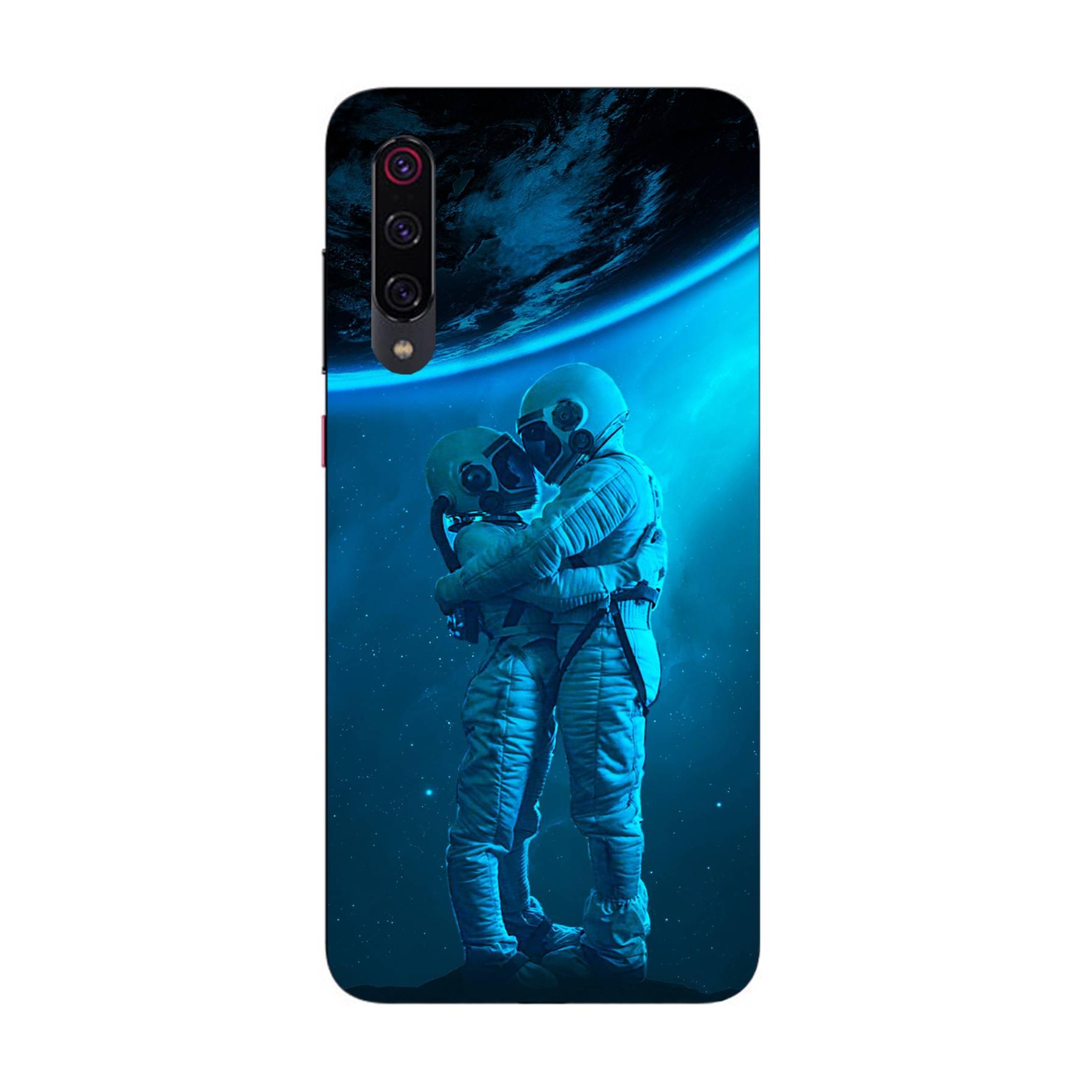 E-pic szilikon védő tok / hátlap - Szerelmes űrhajós pár mintás - Xiaomi Mi 9 Pro