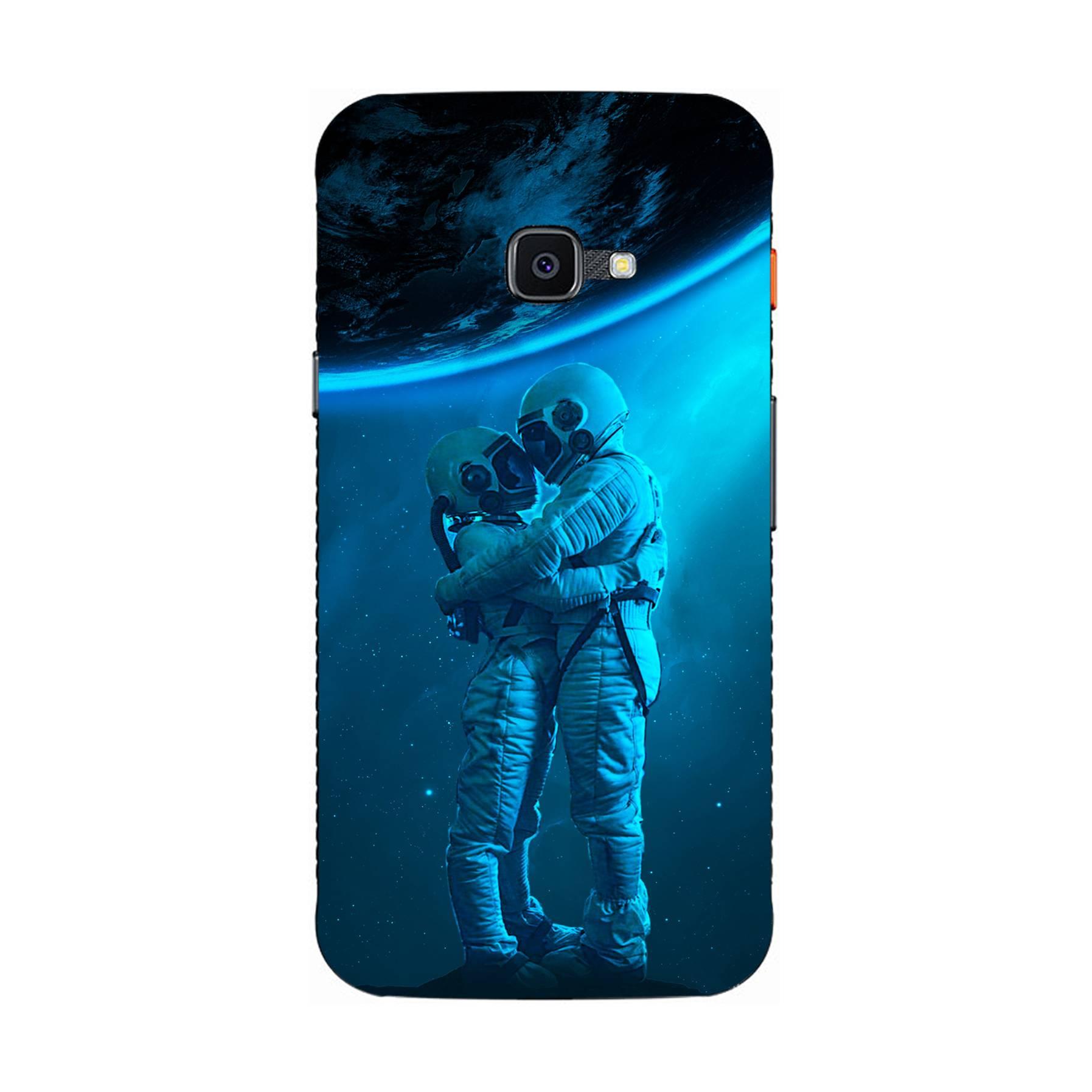 E-pic szilikon védő tok / hátlap - Szerelmes űrhajós pár mintás - SAMSUNG  Galaxy Xcover 4s (SM-G398F)