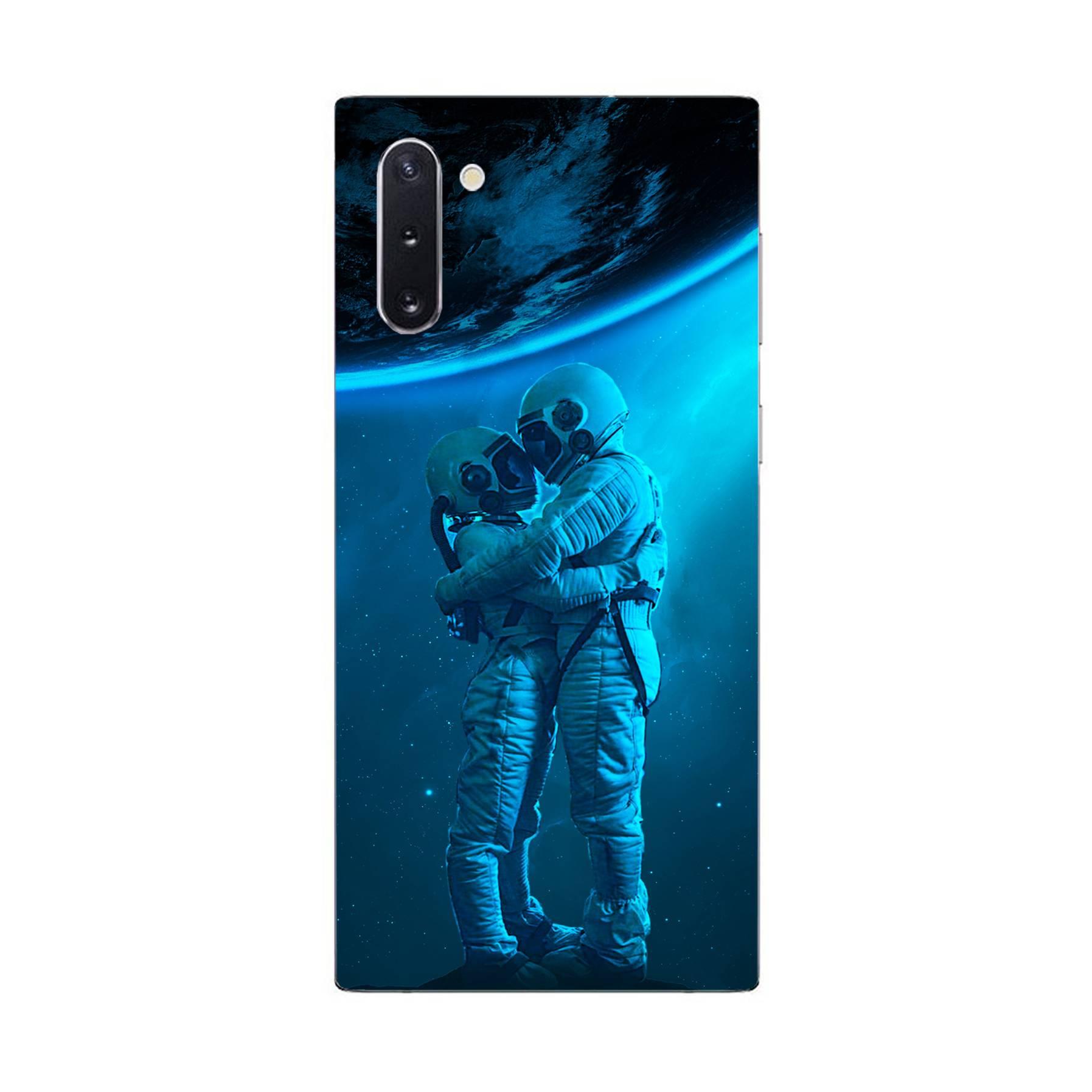 E-pic szilikon védő tok / hátlap - Szerelmes űrhajós pár mintás - SAMSUNG Galaxy Note10 5G (SM-N971U)