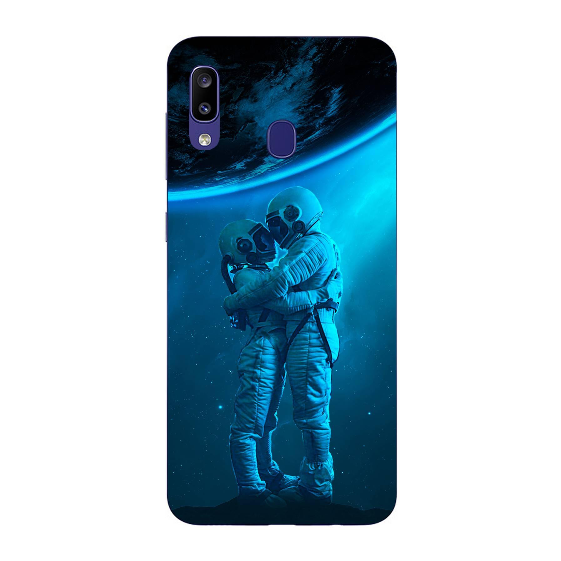 E-pic szilikon védő tok / hátlap - Szerelmes űrhajós pár mintás - SAMSUNG Galaxy M10s (SM-M107F)