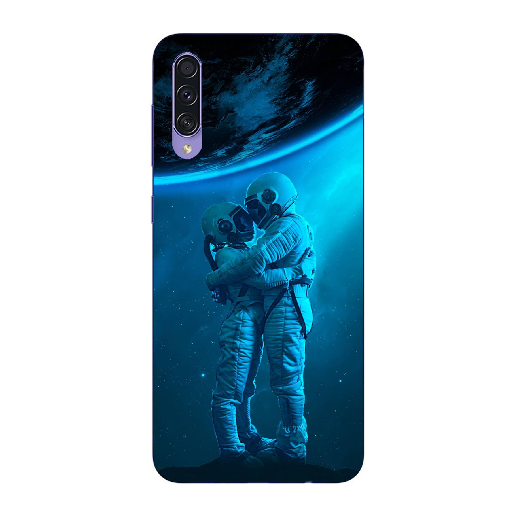 E-pic szilikon védő tok / hátlap - Szerelmes űrhajós pár mintás - SAMSUNG Galaxy A50s (SM-A507F/DS / SM-A507FN/DS)