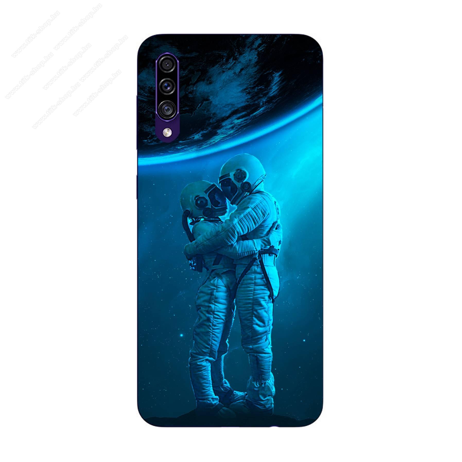 E-pic szilikon védő tok / hátlap - Szerelmes űrhajós pár mintás - SAMSUNG Galaxy A30s (SM-A307F/DS / SM-A307FN/DS)