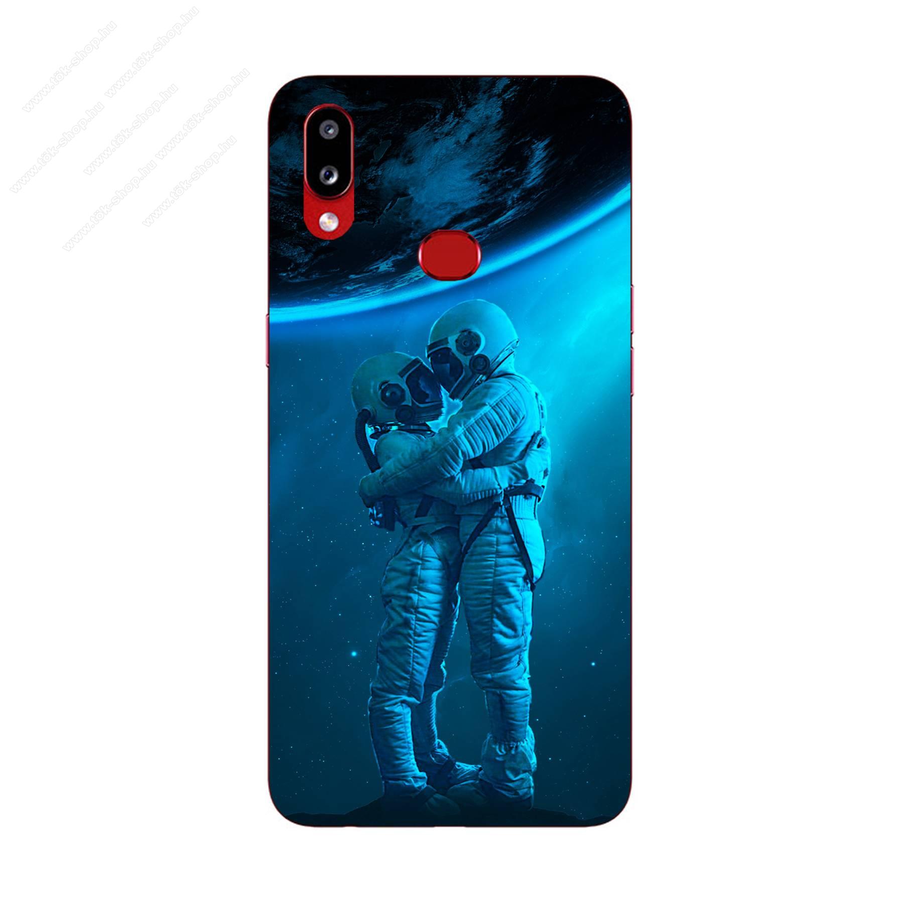E-pic szilikon védő tok / hátlap - Szerelmes űrhajós pár mintás - SAMSUNG Galaxy A10s (SM-A107F)