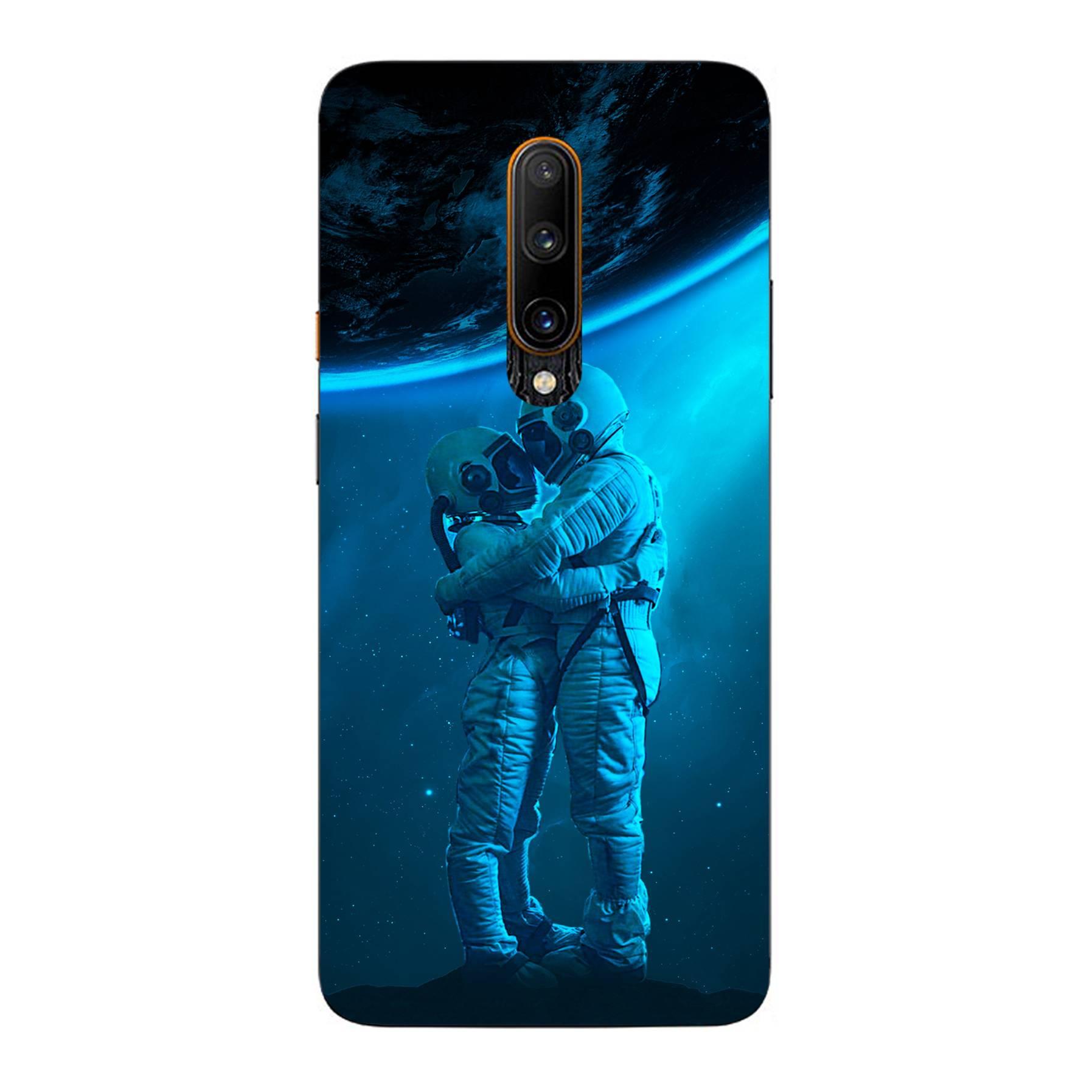 E-pic szilikon védő tok / hátlap - Szerelmes űrhajós pár mintás - ONEPLUS 7T Pro 5G