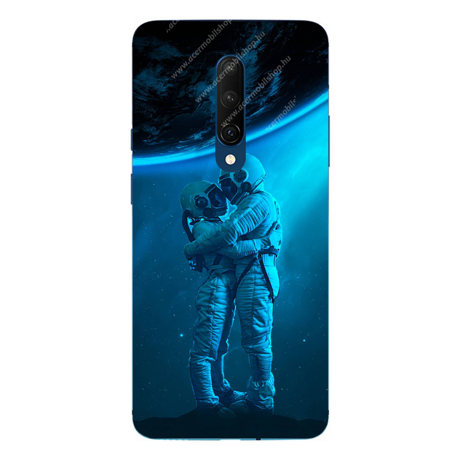 E-pic szilikon védő tok / hátlap - Szerelmes űrhajós pár mintás - ONEPLUS 7T Pro
