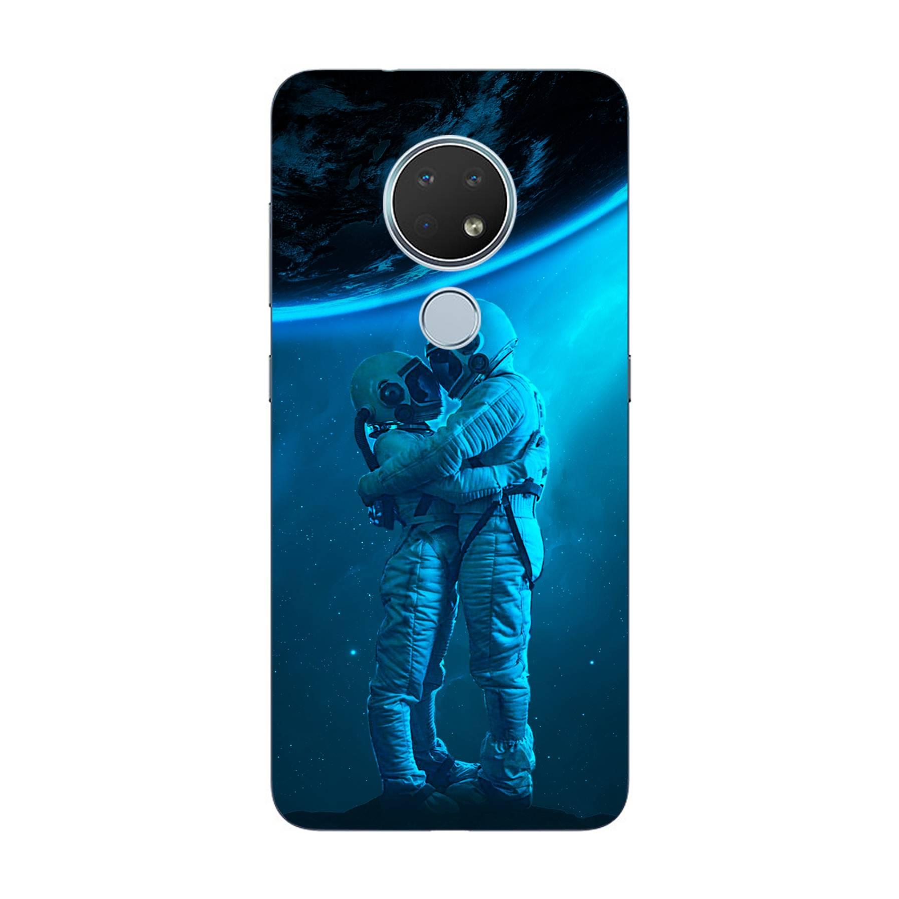 E-pic szilikon védő tok / hátlap - Szerelmes űrhajós pár mintás - NOKIA 7.2