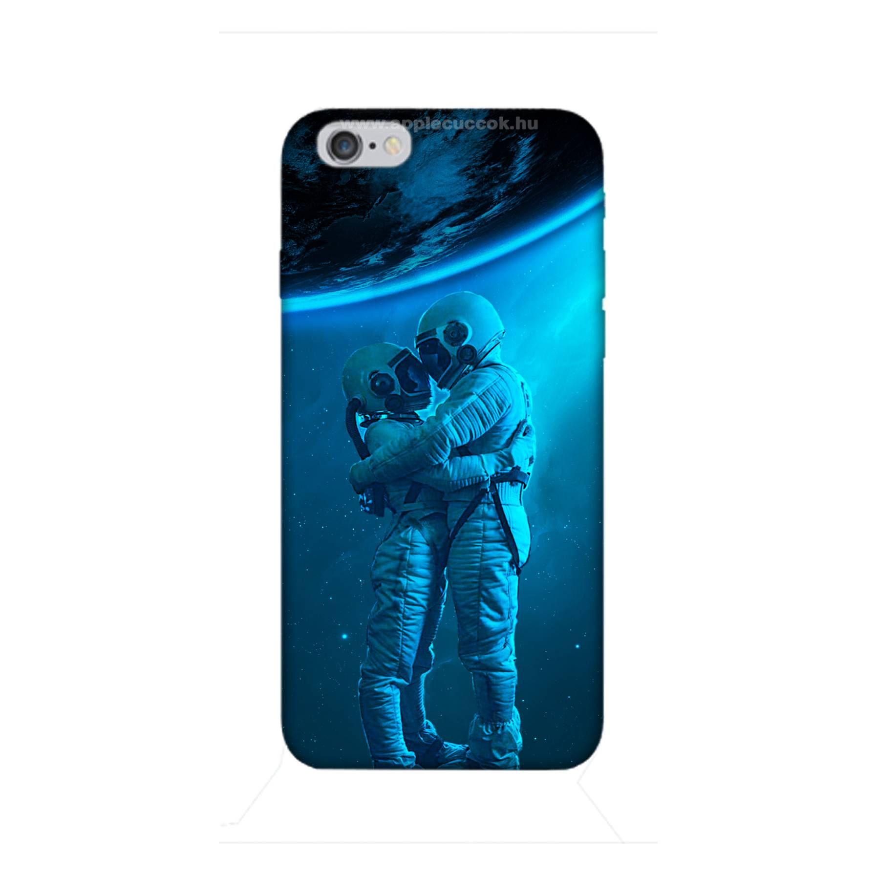 E-pic szilikon védő tok / hátlap - Szerelmes űrhajós pár mintás - APPLE iPhone 6s