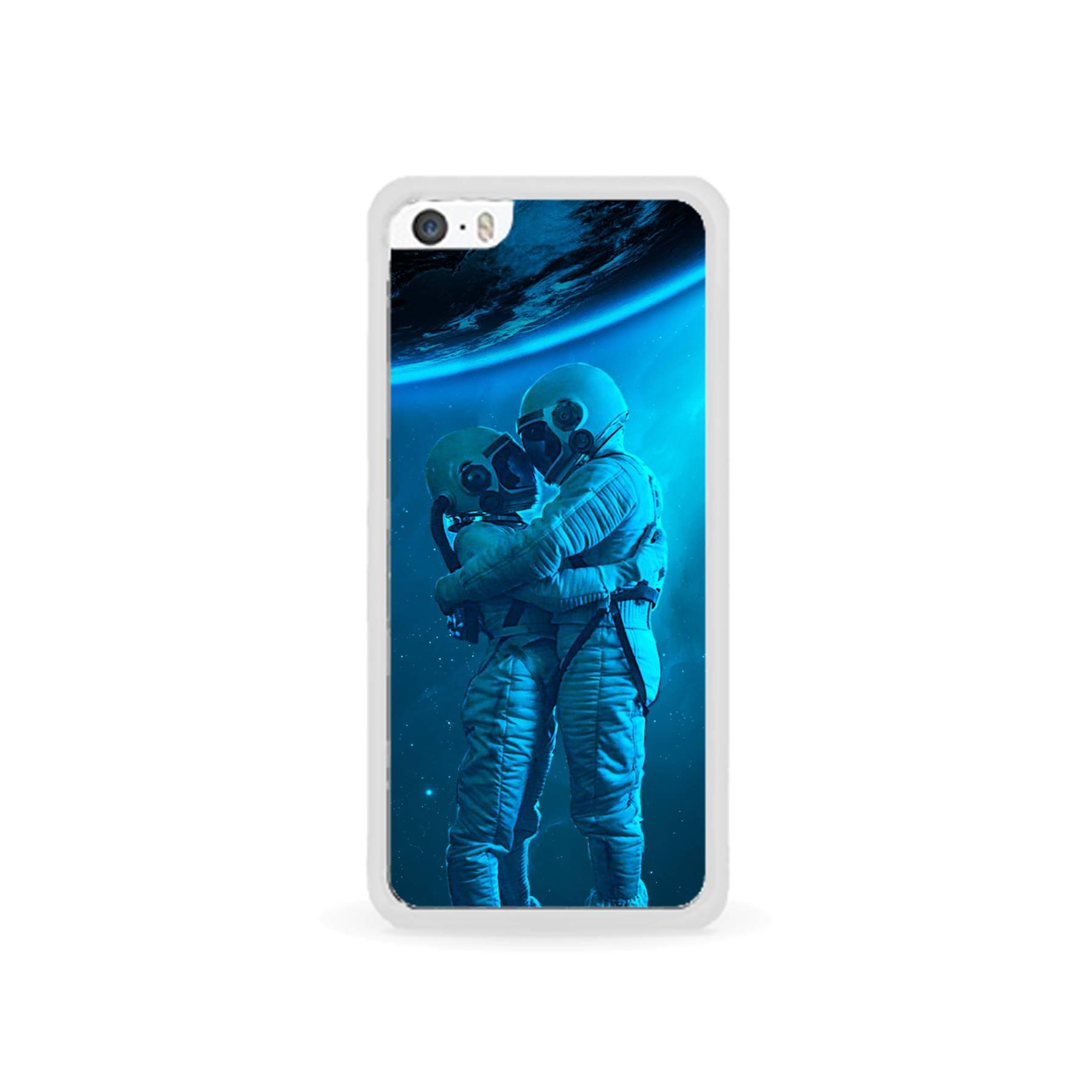 E-pic szilikon védő tok / hátlap - Szerelmes űrhajós pár mintás - APPLE IPhone 5C