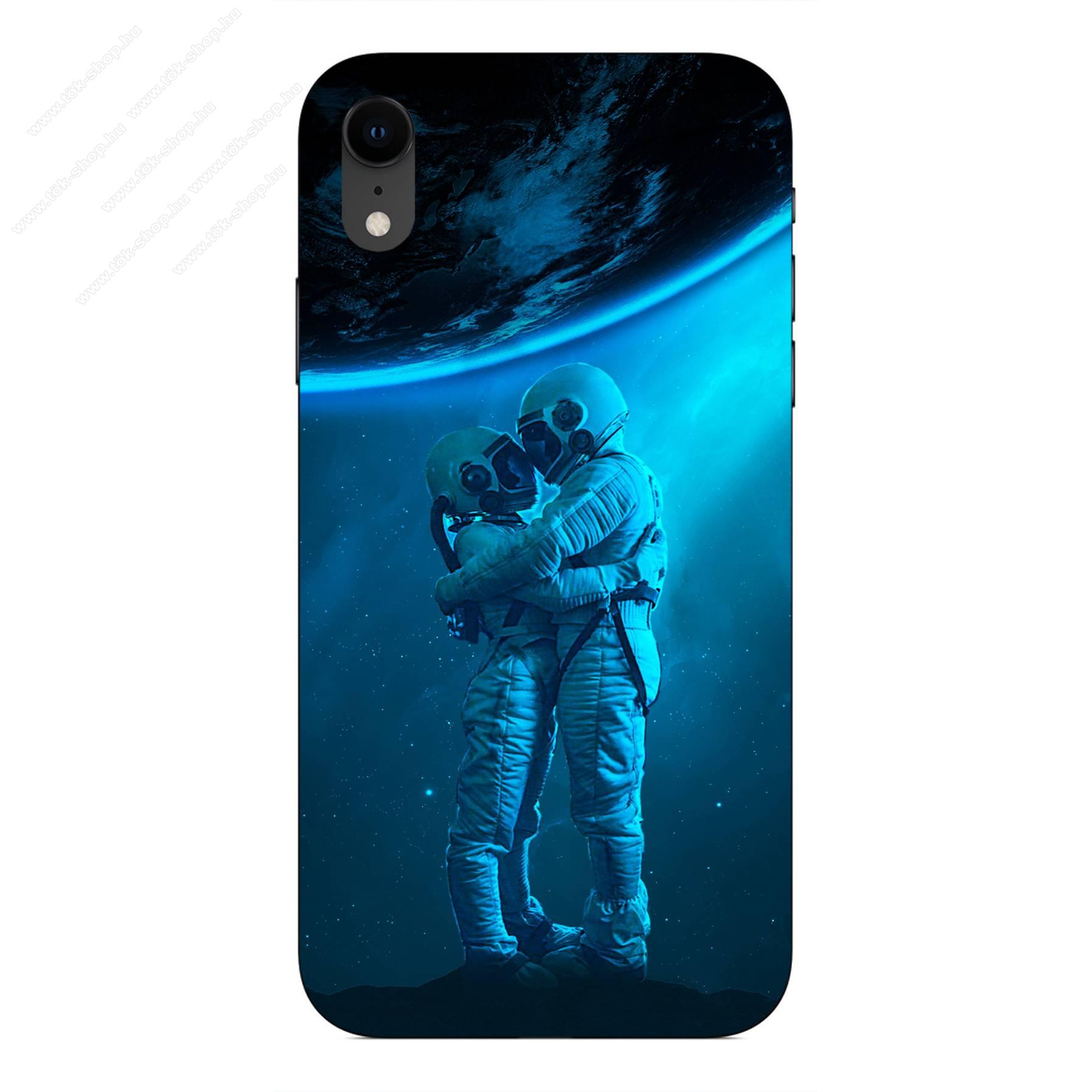 E-pic szilikon védő tok / hátlap - Szerelmes űrhajós pár mintás - APPLE iPhone Xr