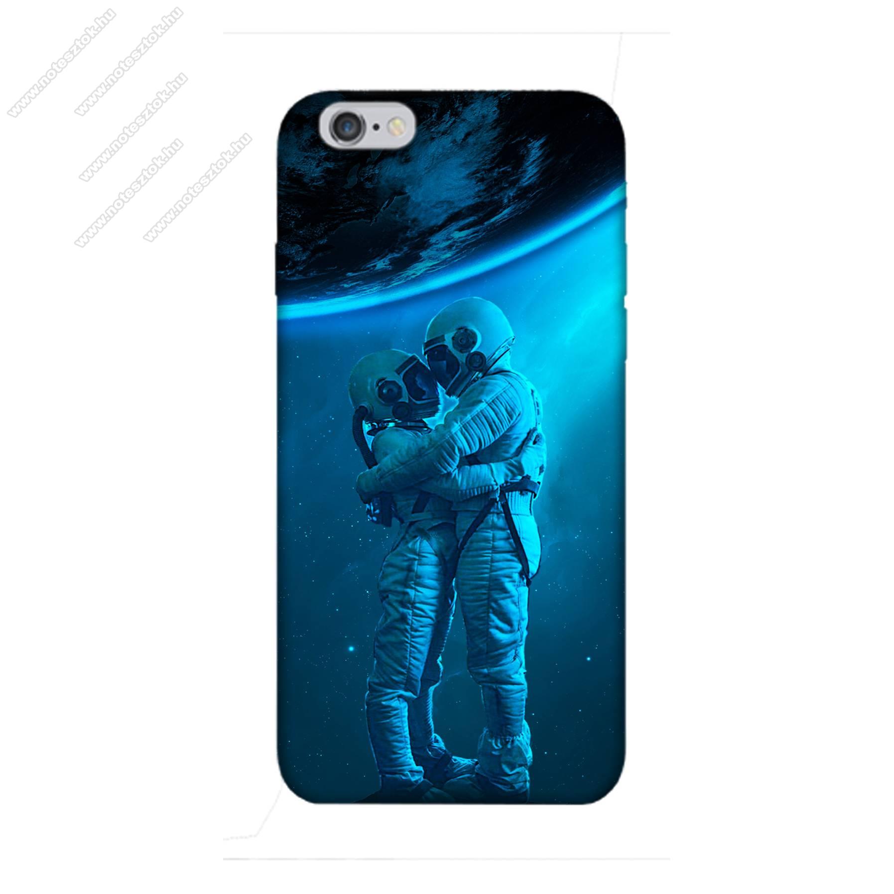 E-pic szilikon védő tok / hátlap - Szerelmes űrhajós pár mintás - APPLE iPhone 6 Plus