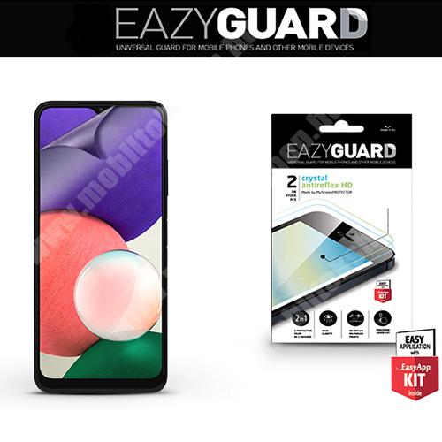 EAZYGUARD képernyővédő fólia - 2 db/csomag (Crystal/Antireflex MATT!) - törlőkendővel, A képernyő sík részét védi - SAMSUNG Galaxy A22 5G (SM-A226) - GYÁRI