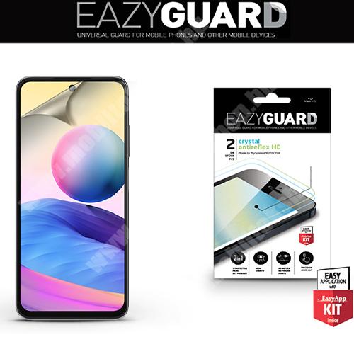 EAZYGUARD képernyővédő fólia - 2 db/csomag (Crystal/Antireflex MATT!) - törlőkendővel, A képernyő sík részét védi - Xiaomi Redmi Note 10 5G / Xiaomi Poco M3 Pro 5G - GYÁRI