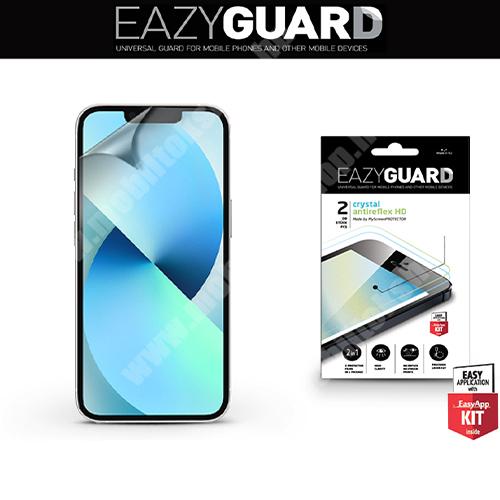 EAZYGUARD képernyővédő fólia - 2 db/csomag (Crystal/Antireflex MATT!) - törlőkendővel, A képernyő sík részét védi - APPLE iPhone 13 mini - GYÁRI