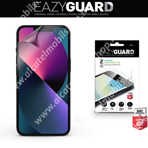 EAZYGUARD képernyővédő fólia - 2 db/csomag (Crystal/Antireflex MATT!) - törlőkendővel, A képernyő sík részét védi - APPLE iPhone 13 / iPhone 13 Pro - GYÁRI