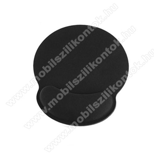 Egérpad csukló alátámasztással - memóriahab, csúszásgátló, kopásálló, egérpad mérete: ~ 250 x 225mm - FEKETE