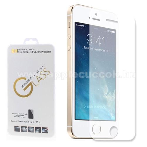 El?lap v�d? karc�ll� edzett �veg - 0,3 mm v�kony, 9H - APPLE iPhone 5 / APPLE iPhone 5S / APPLE iPhone 5C