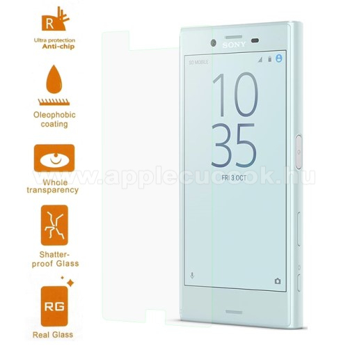 El?lap v�d? karc�ll� edzett �veg - 0,3 mm v�kony, 9H, Arc Edge - SONY Xperia X Compact