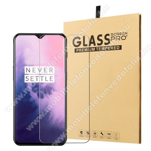 Előlap védő karcálló edzett üveg - 0,25 mm vékony, 9H, Arc Edge - OnePlus 7 Pro