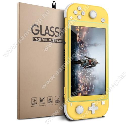 Előlap védő karcálló edzett üveg - 0,25 mm vékony, 9H, Arc Edge, A képernyő sík részét védi - Nintendo Switch Lite