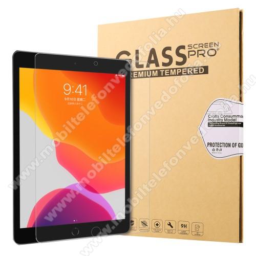 Előlap védő karcálló edzett üveg - 0,25 mm vékony, 9H, Arc Edge, A képernyő sík részét védi - APPLE iPad 10.2 (7th Generation) (2019)