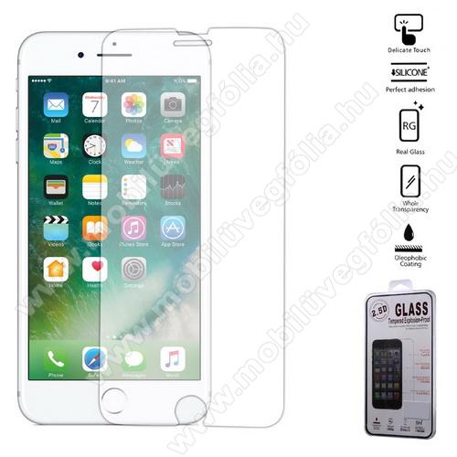 Előlap védő karcálló edzett üveg - 0,25 mm, 9H, A képernyő sík részét védi - Arc Edge - APPLE iPhone 7 Plus (5.5) / APPLE iPhone 8 Plus (5.5)