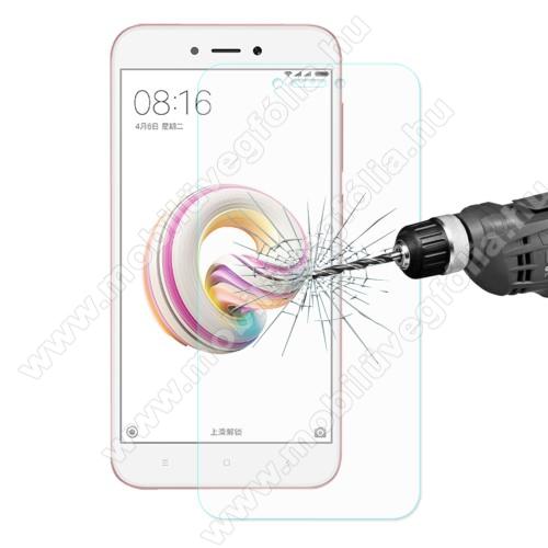Előlap védő karcálló edzett üveg - 0,26 mm vékony, 9H, Arc Edge, A képernyő sík részét védi - Xiaomi Redmi 5A