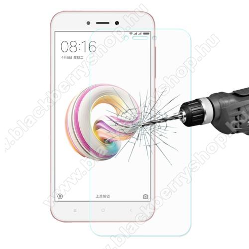 Előlap védő karcálló edzett üveg - 0,26 mm vékony, 9H, Arc Edge - Xiaomi Redmi 5A