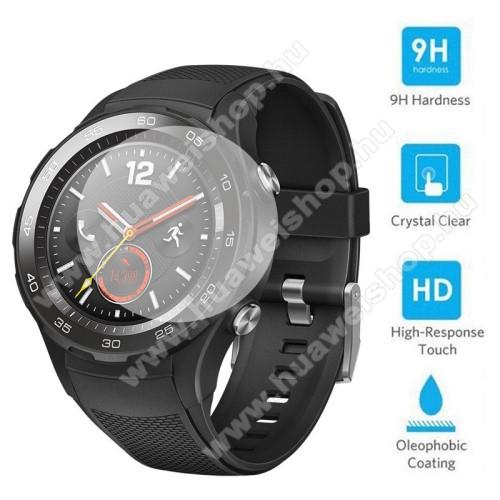 HUAWEI Watch W2Előlap védő karcálló edzett üveg - 0,2 mm vékony, 9H, 2.5D, Arc Edge, A képernyő sík részét védi - HUAWEI Watch 2 / HUAWEI Watch 2 Pro
